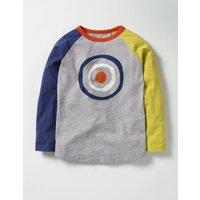 Colourblock Graphic T-shirt Grey Marl Target Boys Boden, Grey