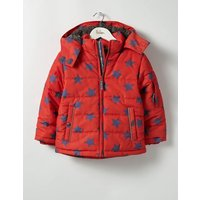 Fun Padded Jacket Ziggy Red Star Boys Boden, Red