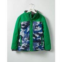 All-weather Waterproof Jacket Green Boys Boden, Green