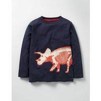 Glow-in-the-dark Dino T-shirt Navy Dinosaur Boys Boden, Navy