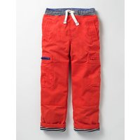 Lined Pull-on Cargos Ziggy Red Boys Boden, Red