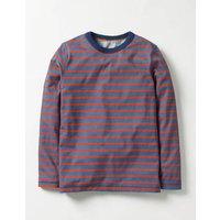 Supersoft T-shirt Space Blue/Ziggy Red Boys Boden, Orange
