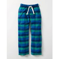 Brushed Check Bottoms Green Boys Boden, Green