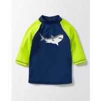 Logo Rash Vest Deep Sea Boys Boden, Blue