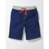 Rib Waist Shorts Beacon Blue Boys Boden, Blue