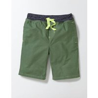 Rib Waist Shorts Rosemary Boys Boden, Green