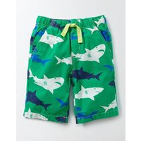 Printed Board Shorts Green Shark Print Boys Boden, Green