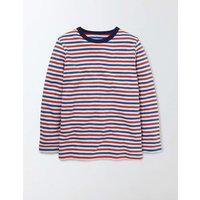 Fun Stripe T-shirt Multi Boys Boden, Multi