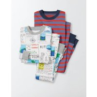 Twin Pack Cosy Long Johns Navy Boys Boden, Navy