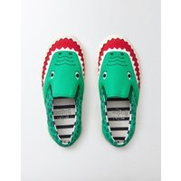 Novelty Canvas Pull-ons Astro Green Boys Boden, Green