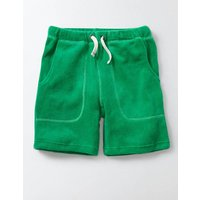 Towelling Shorts Green Boys Boden, Green