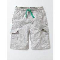 Jersey Cargo Shorts Grey Marl Boys Boden, Grey