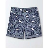 Roll Up Shorts Beacon Monkey Palm Boys Boden, Blue