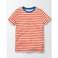 Slub Washed T-shirt Orange Boys Boden, Orange