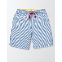 Swim Shorts Skipper Stripe and Anchor Boys Boden, Blue