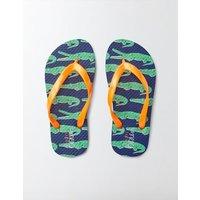 Printed Flip Flops Astro Green Crocs Boys Boden, Green