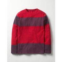 Slub Stripe T-shirt Red Boys Boden, Red