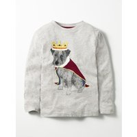 Animals Rule T-shirt Grey Boys Boden, Grey