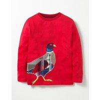 Patchwork Appliqué T-shirt Red Boys Boden, Red