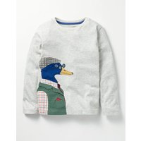 Splendid Animals T-shirt Grey Boys Boden, Grey