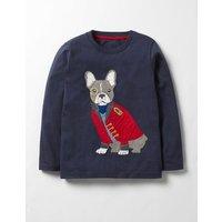 Splendid Animals T-shirt Navy Boys Boden, Navy