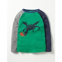 Dragon Slayer T-shirt Green Boys Boden, Green