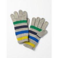 Knitted Gloves Grey Boys Boden, Grey