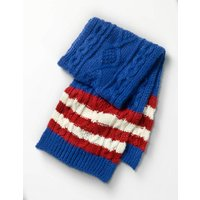 Knitted Scarf Blue Boys Boden, Blue