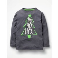 Festive Graphic T-shirt Grey Boys Boden, Grey