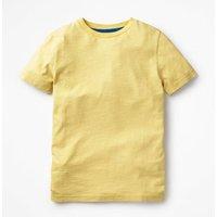 Slub Washed T-shirt Yellow Boys Boden, Yellow