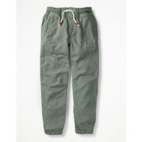Lined Woven Joggers Green Boys Boden, Green