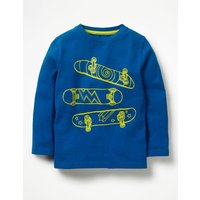 Illustrative Print T-shirt Blue Boys Boden, Blue
