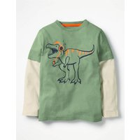 Layered Party Animal T-shirt Green Boys Boden, Green