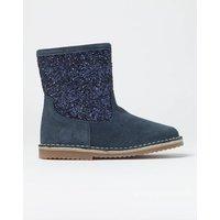 Glitter Suede Boots Navy Girls Boden, Blue