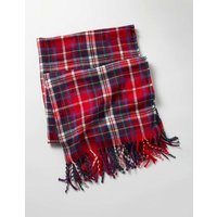 Woven Scarf Red Check Girls Boden, Red