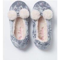 Velvet Bear Slippers Blue Girls Boden, Blue