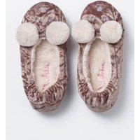 Velvet Bear Slippers Brown Girls Boden, Brown