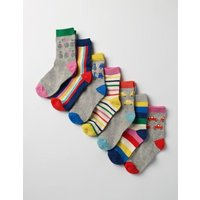 7 Pack Sock Box Multi Girls Boden, Multi