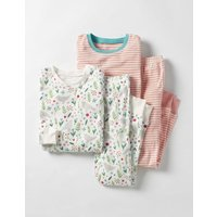 Twin Pack Cosy Long Johns Multi Birdy Sprig Girls Boden, Multi