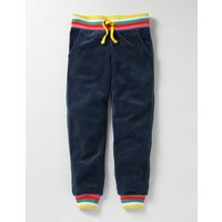 Velour Sweatpants School Navy Girls Boden, Navy