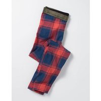 Sparkle Detail Leggings Blue/Pink Check Girls Boden, Navy