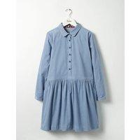 Shirt Dress Wren Blue Girls Boden, Blue