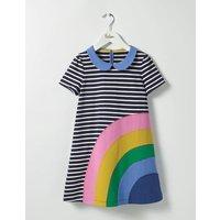 Fun Appliqué Jersey Dress Navy Girls Boden, Navy