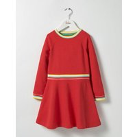 Cosy Sweatshirt Dress Red Girls Boden, Red