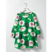 Fun Printed Dress Iguana Green Lily Pad Girls Boden, Green