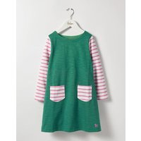 Stripy Jersey Dress Green Girls Boden, Green