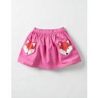 Animal Pocket Skirt Plum Blossom Pink Fox Girls Boden, Pink