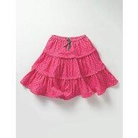 Twirly Frill Skirt Honeysuckle Pink Pin Spot Girls Boden, Pink