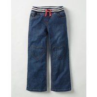 Heart Patch Trousers Mid Vintage Girls Boden, Denim