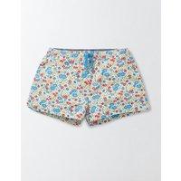 Heart Pocket Pull-on Shorts Bright Bluebell Flower Bed Girls Boden, Multi
